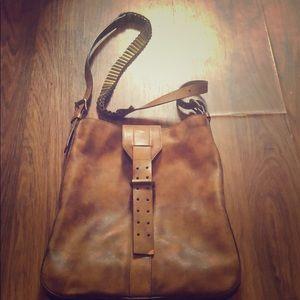 Celine brown leather crossbody w bullet details